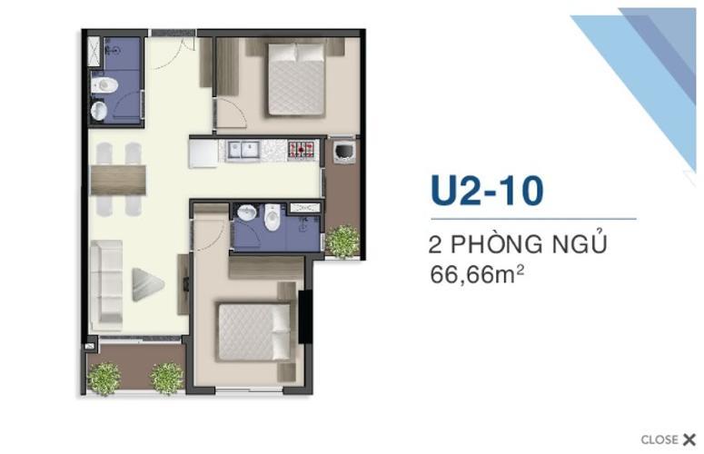 Mặt bằng nội thất Q7 Saigon Riverside Căn hộ Q7 Saigon Riverside nội thất cơ bản, hướng Nam đón gió.