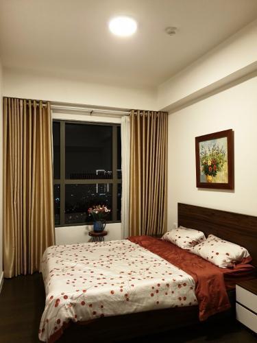 phòng ngủ căn hộ  2 phòng ngủ the sun avenue Căn hộ The Sun Avenue tầng cao, bàn giao đầy đủ nội thất.