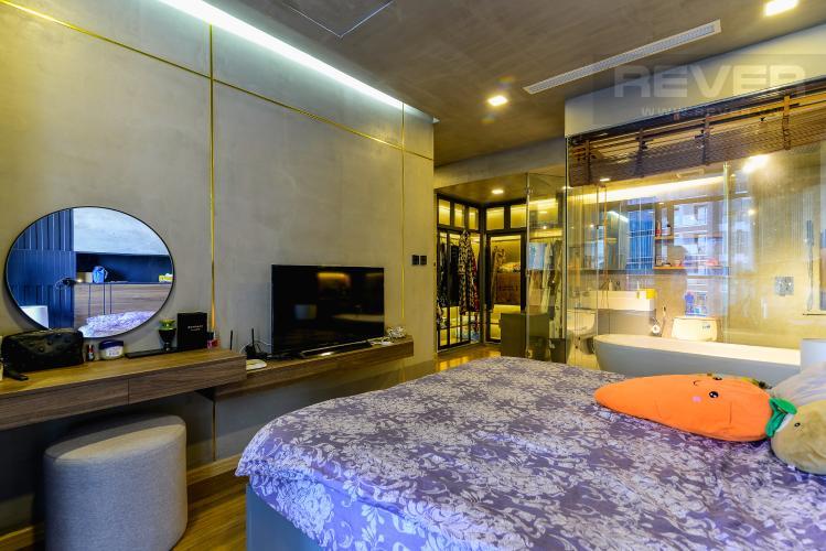 Phòng Ngủ Căn hộ Vinhomes Central Park 2PN đầy đủ nội thất, view sông Sài Gòn