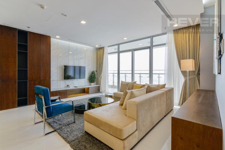 Phòng Khách Căn góc Vinhomes Central Park tầng cao Park 2 thiết kế đẹp, tiện nghi