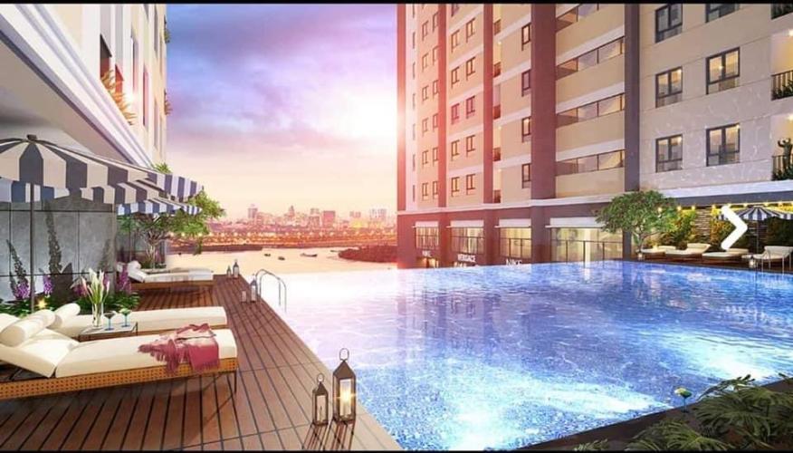 Hồ bơi Saigon Intela, Bình Chánh Căn hộ Saigon Intela tầng cao đón gió, view thành phố thoáng mát.