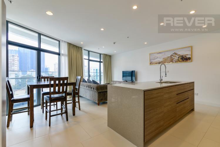 Phòng Khách Cho thuê căn hộ City Garden view thành phố, 104m2 2PN 2WC, nội thất tiện nghi