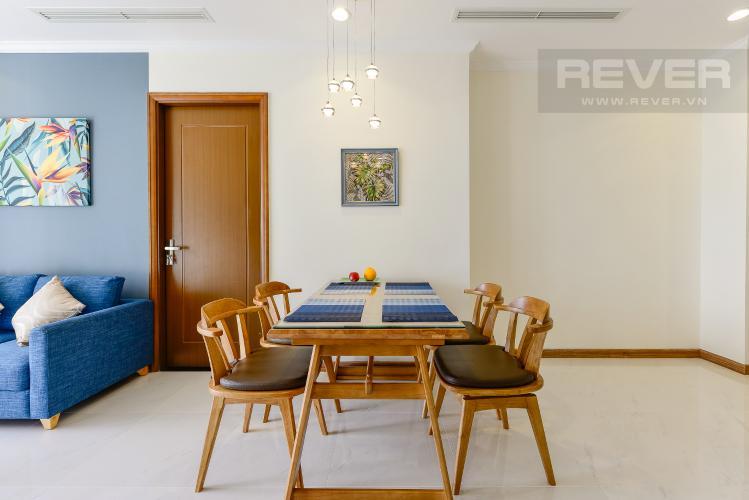 bàn ăn Căn hộ Vinhomes Central Park tầng trung L3 vừa hoàn thiện, full nội thất