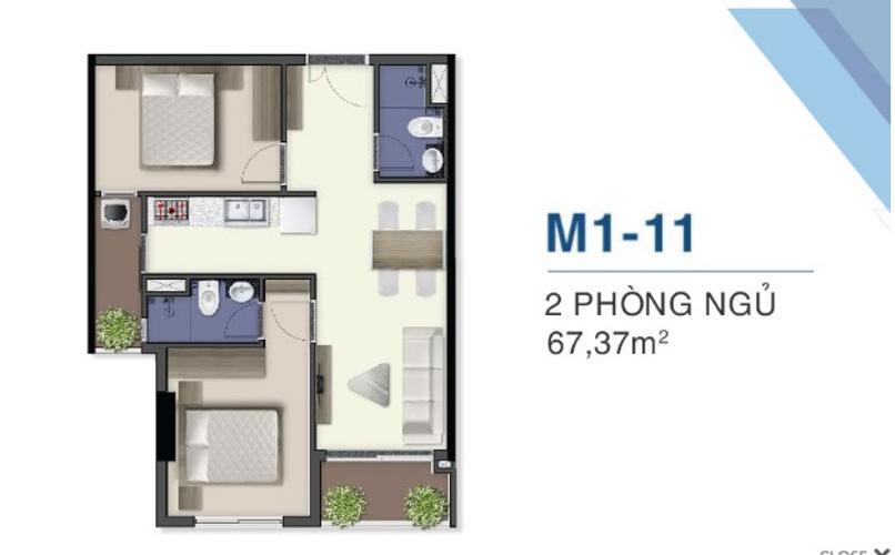 Măt bằng nội thất căn hộ Q7 Saigon Riverside Bán căn hộ Q7 Saigon Riverside tầng cao, ban công hướng Nam.