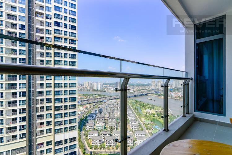 View Balcony Cho thuê căn hộ Vinhomes Central Park 2PN 2WC, đầy đủ nội thất, view sông