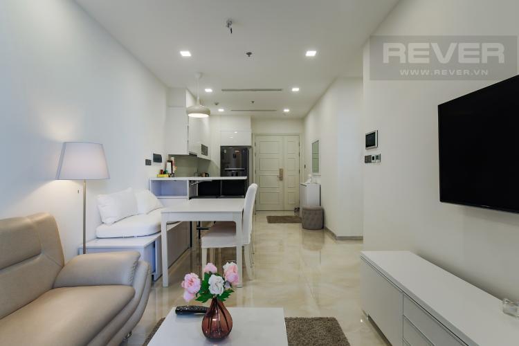 Phòng Khách Bán căn hộ Officetel Vinhomes Golden River 1PN, đầy đủ nội thất, view sông Sài Gòn