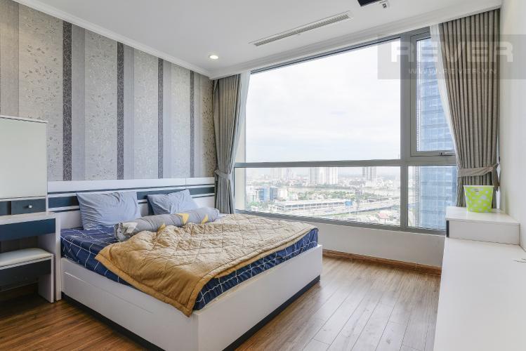 Phòng Ngủ 1 Căn hộ Vinhomes Central Park 3PN đầy đủ nội thất, có thể dọn vào ở ngay