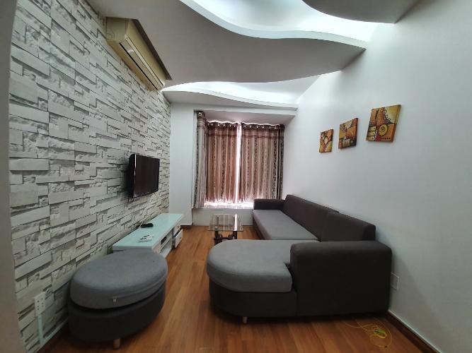 Phòng khách căn hộ Sky Garden 3 Căn hộ Sky Garden 3 view nội khu thoáng đãng, tầng trung.
