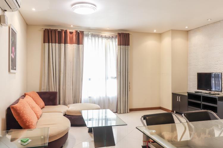 Phòng Khách Cho thuê căn hộ The Lancaster 2PN, tầng thấp, đầy đủ nội thất, hướng Bắc