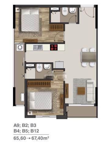 Căn hộ tầng 22 Moonlight Residences, nội thất cơ bản