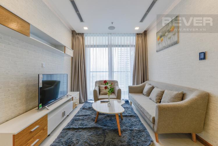 Phòng khách Căn hộ Vinhomes Central Park 2 phòng ngủ tầng cao Park 6