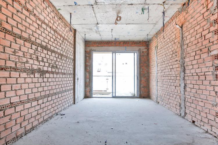 Phòng Khách Căn hộ The Gold View 2 phòng ngủ tầng trung A1 nhà thô