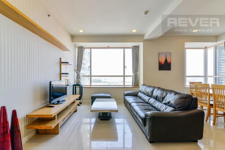 Phòng Khách Căn hộ Sunrise City 2 phòng ngủ tầng trung V6 nội thất đầy đủ
