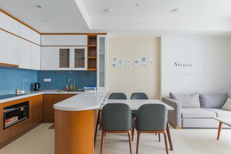 Căn hộ The Tresor tầng cao, 2PN, đầy đủ nội thất