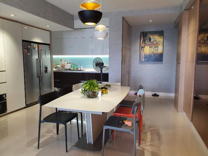 Phòng bếp căn hộ Icon 56 Căn hộ chung cư Icon 56 view thành phố cực thoáng, đầy đủ tiện nghi.