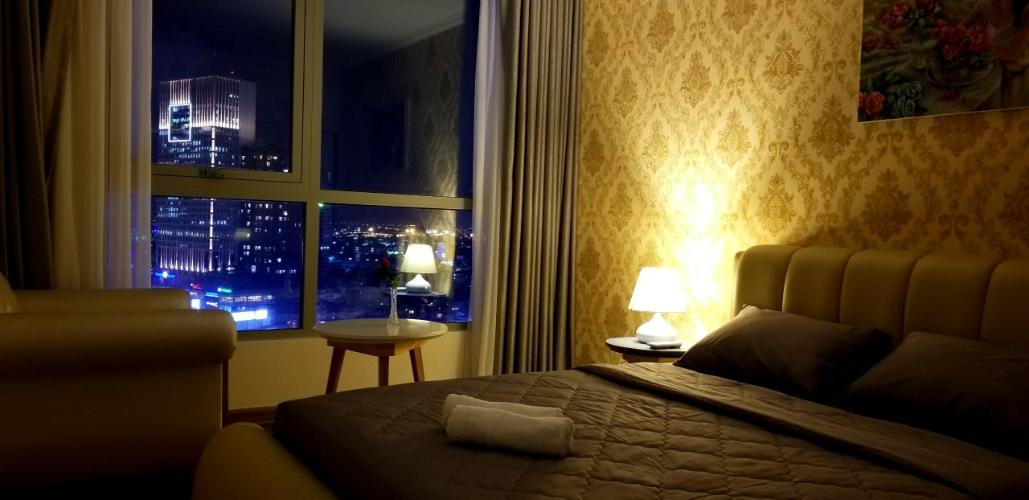 Phòng ngủ Vinhomes Central Park Căn hộ tầng trung Vinhomes Central Park ban công hướng Tây Bắc.