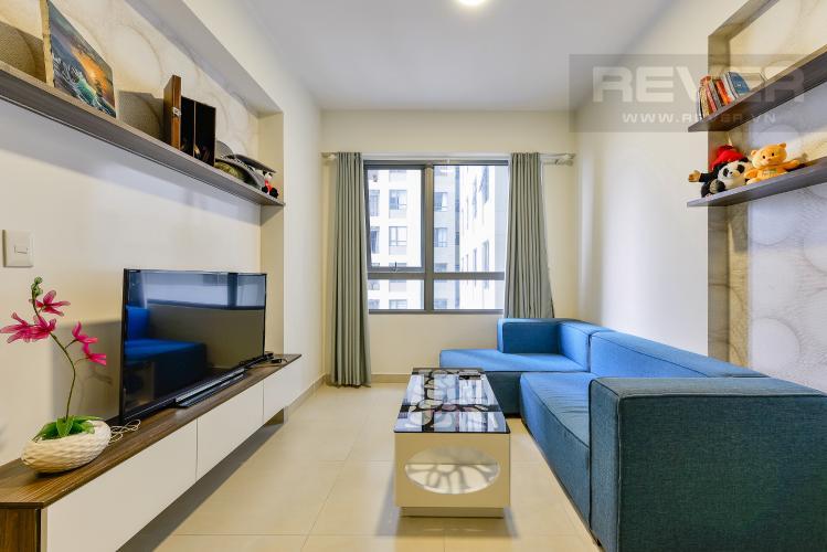 Phòng khách Căn hộ Masteri Thảo Điền 2 phòng ngủ tầng trung T3 nội thất đầy đủ