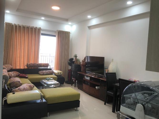 Phòng khách The Sun Avenue Căn hộ The Sun Avenue đầy đủ nội thất, căn góc hướng Đông Nam.