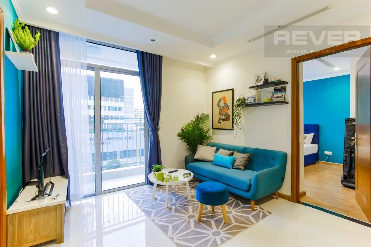 Phòng Khách Căn hộ Vinhomes Central Park tầng thấp Landmark 3 thiết kế hiện đại, trẻ trung