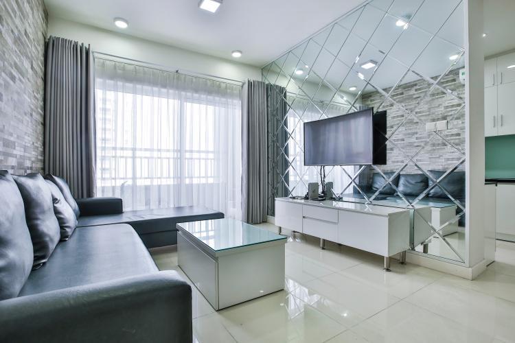 Phòng Khách Căn hộ Sunrise City 2 phòng ngủ tầng trung tháp W4 nội thất đầy đủ