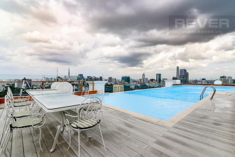 Hồ Bơi Cho thuê căn hộ tầng cao Léman Luxury Apartments, 2PN, đầy đủ nội thất