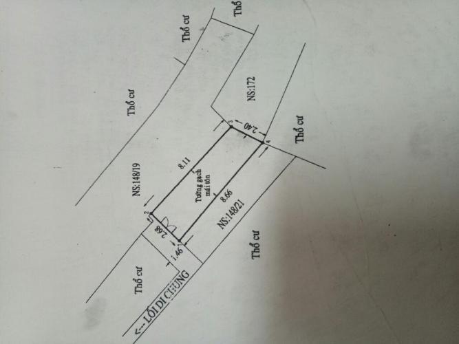 Nhà phố đường Tôn Đản, Quận 4 Nhà phố Quận 4 hướng Bắc gồm 1 trệt 1 lầu, hẻm xe máy rộng 2.5m.