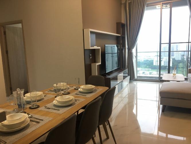 Phòng ăn căn hộ PHÚ MỸ HƯNG MIDTOWN Cho thuê căn hộ Phú Mỹ Hưng Midtown 2PN, diện tích 89m2, đầy đủ nội thất, view toàn cảnh Phú Mỹ Hưng
