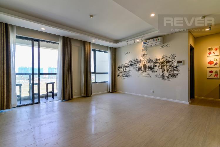 Phòng Khách Cho thuê căn hộ Đảo Kim Cương 2 phòng ngủ tháp Bora Bora, view sông mát mẻ và trong lành