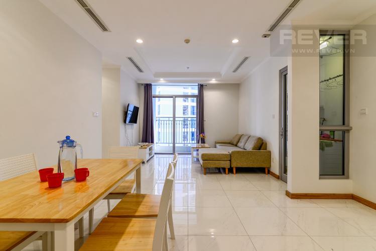 Phòng Khách Bán căn hộ Vinhomes Central Park tầng thấp 2 phòng ngủ, đầy đủ nội thất, view nội khu