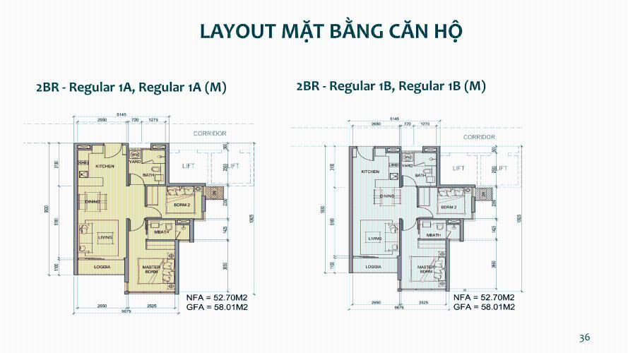 mặt bằng dự án Metro Star Bán căn hộ 2 phòng ngủ Metro Star, bàn giao nội thất cơ bản