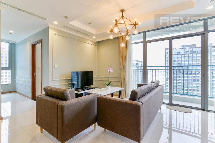 Phòng Khách Căn hộ Vinhomes Central Park 2 phòng ngủ tầng cao C3 hướng Đông