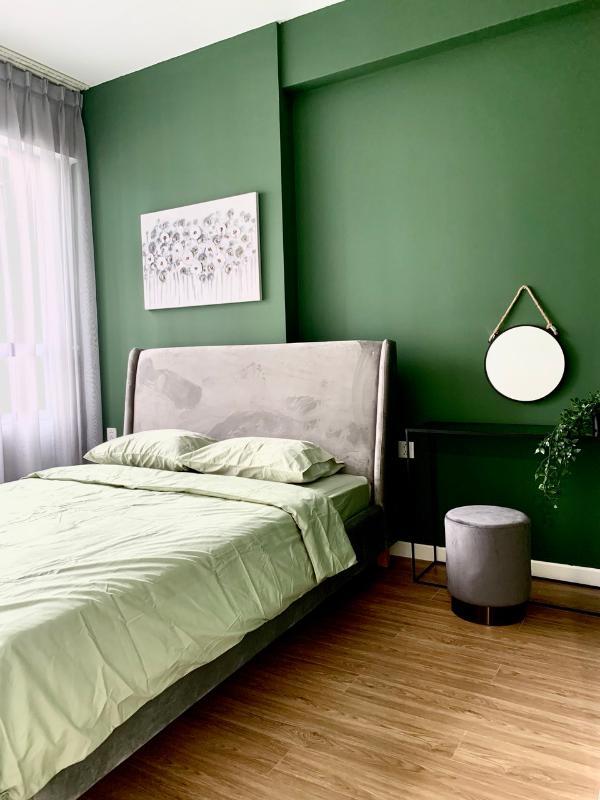 không gian phòng ngủ Cho thuê căn hộ Masteri An Phú 2 phòng ngủ, tháp A, đầy đủ nội thất cao cấp