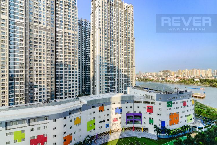 View Ban Công Căn hộ Saigon Pearl 2 phòng ngủ tầng thấp R2 nội thất đầy đủ