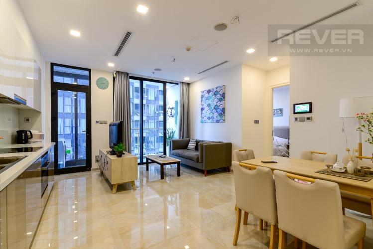 Phòng Khách Bán căn hộ Vinhomes Golden River 1PN tầng cao, đầy đủ nội thất, view sông thoáng mát