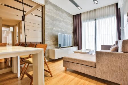 Căn góc Masteri Thảo Điền tầng cao 2 phòng ngủ T2 thiết kế đẹp, sang trọng