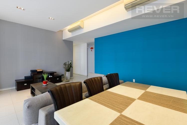 Phòng Khách Căn hộ The Estella Residence tầng cao, 3PN, nội thất đầy đủ, view hồ bơi