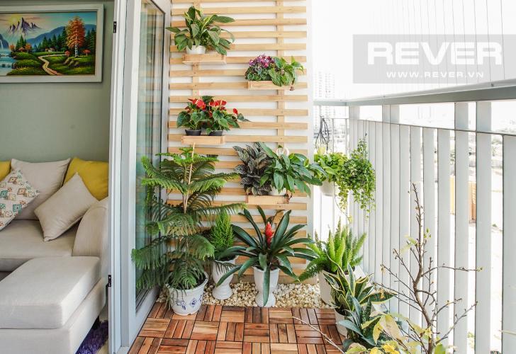Ban Công Bán căn hộ Lux Garden 2 phòng ngủ, nội thất đầy đủ, view cầu Phú Mỹ
