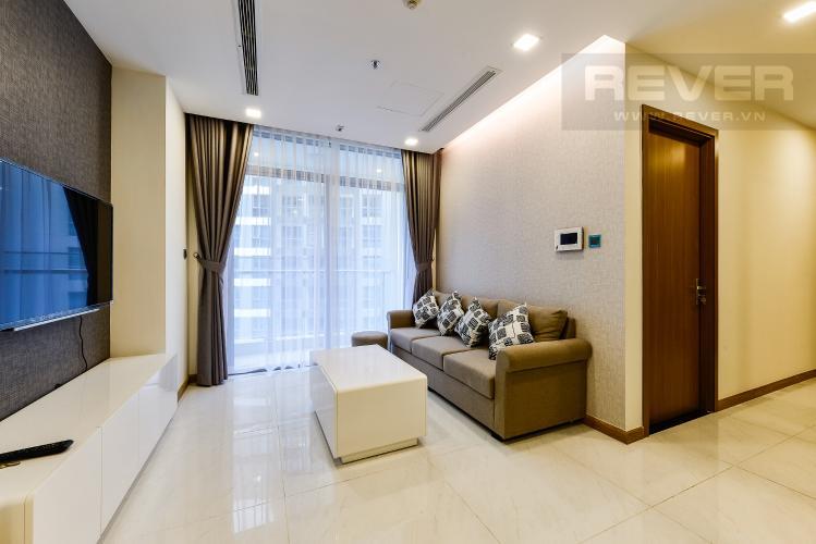 Phòng khách Căn hộ Vinhomes Central Park tầng cao, Park 3, 3 phòng ngủ, view sông.