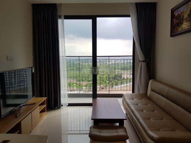 Phòng khách Vinhomes Grand Park Quận 9 Căn hộ Vinhomes Grand Park tầng trung, view sông và thành phố.