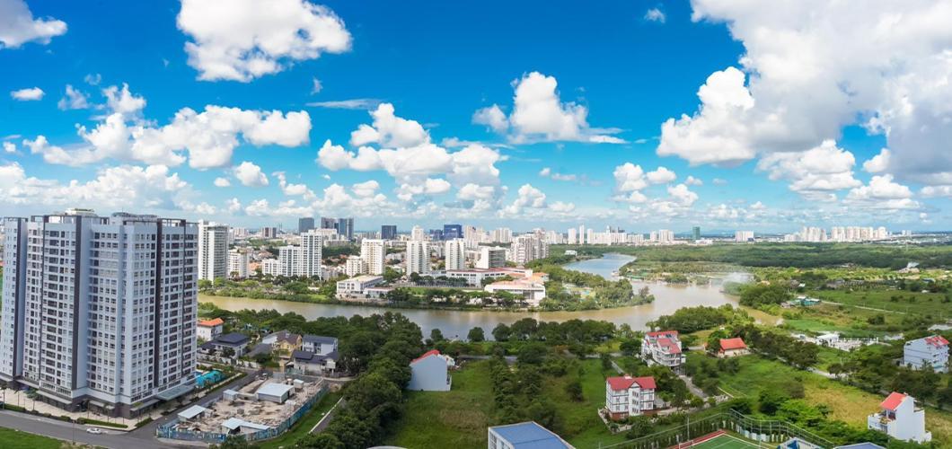 View Saigon South Residence  Căn hộ Saigon South Residence tầng cao, đầy đủ nội thất.