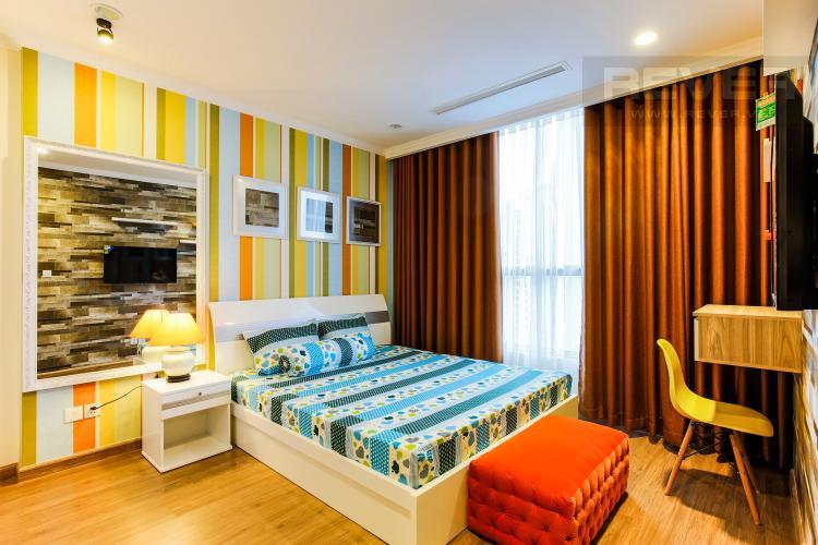 Phòng Ngủ 2 Căn hộ Vinhomes Central Park tầng cao Central 2 thiết kế hiện đại, trẻ trung