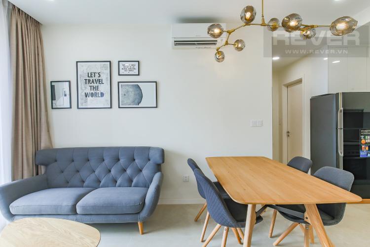 Phòng Khách Cho thuê căn hộ Masteri Millennium 1PN 1WC, đầy đủ nội thất, view sông