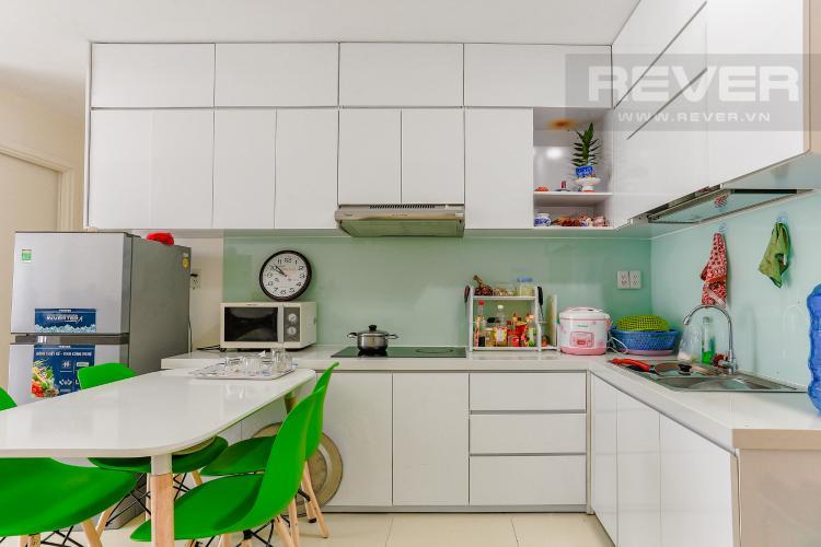 Phòng Ăn Và Bếp Căn hộ M-One Nam Sài Gòn tầng cao diện tích 62,75m2, nội thất đầy đủ.