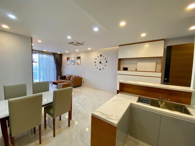Phòng ăn và bếp căn hộ PHÚ MỸ HƯNG MIDTOWN Cho thuê căn hộ Phú Mỹ Hưng Midtown 2PN, diện tích 89m2, đầy đủ nội thất, hướng ban công Đông Nam