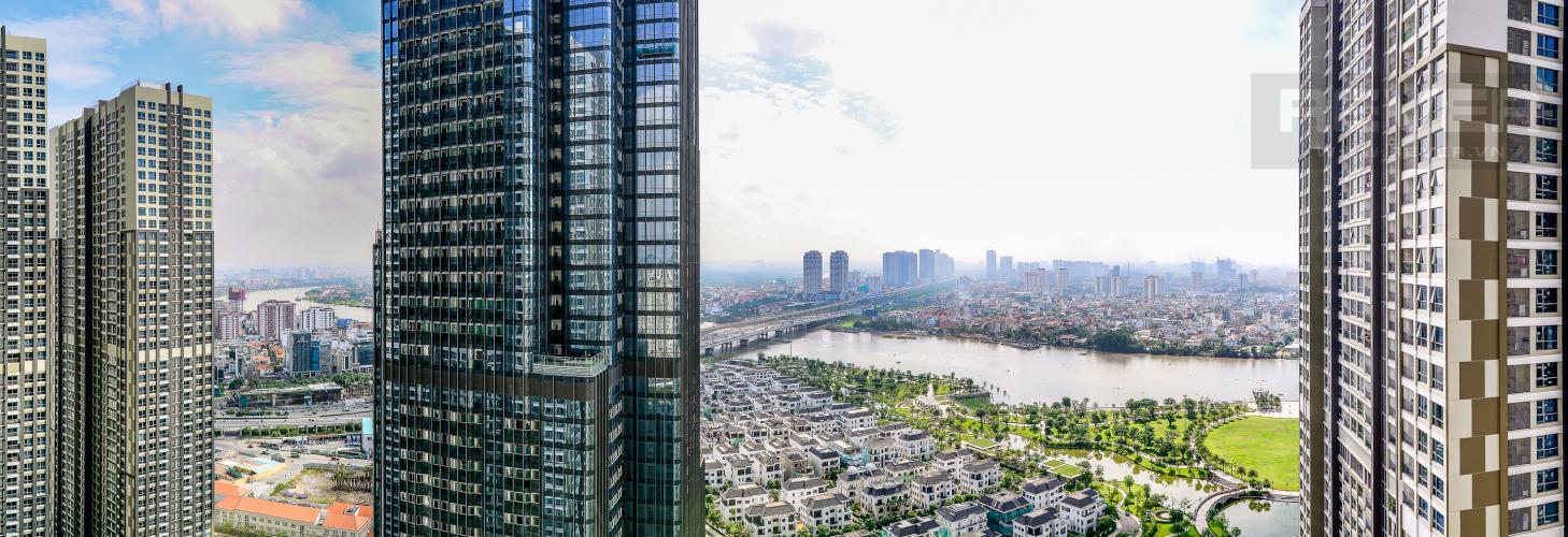 View Căn hộ Vinhomes Central Park 3 phòng ngủ tầng cao L2 view sông