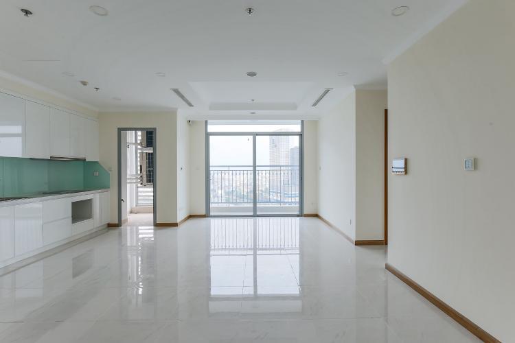 Phòng Khách Căn hộ Vinhomes Central Park 3 phòng ngủ tầng trung L6 nhà trống