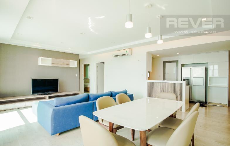 Phòng Khách và Phòng Ăn Cho thuê căn hộ Riviera Point 2PN, tầng cao, đầy đủ nội thất, view sông thoáng mát