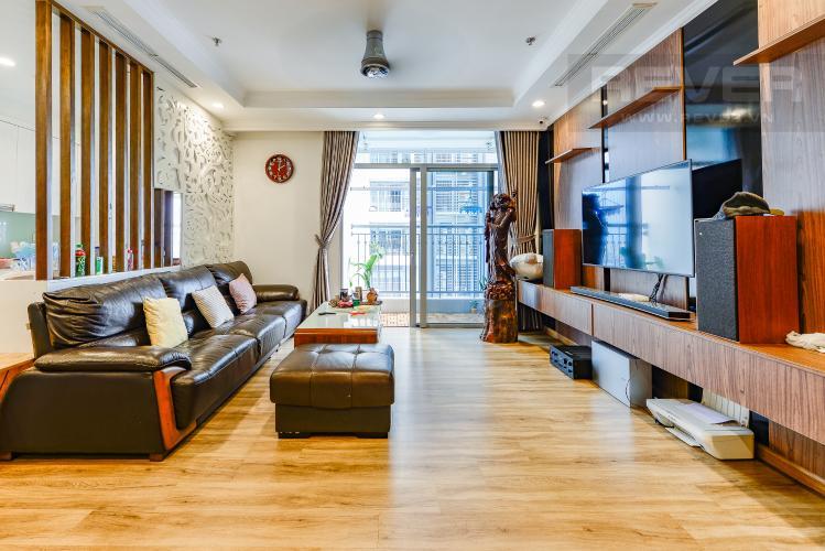 Phòng khách Căn hộ Vinhomes Central Park 4 phòng ngủ tầng trung C2 view sông