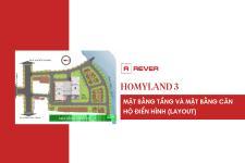 Chi tiết mặt bằng tầng và mặt bằng căn hộ (layout) dự án HomyLand 3