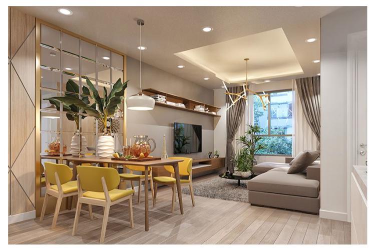 Phối cảnh căn hộ Topaz Elite Căn hộ tầng cao Topaz Elite 2 phòng ngủ, view thành phố.